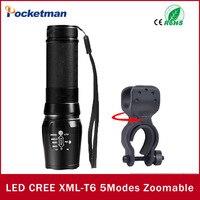 USA EU NEW Hot E17 CREE XML T6 LED Flashlight 4000LM 5 Modes Zoomable Torch Linternas