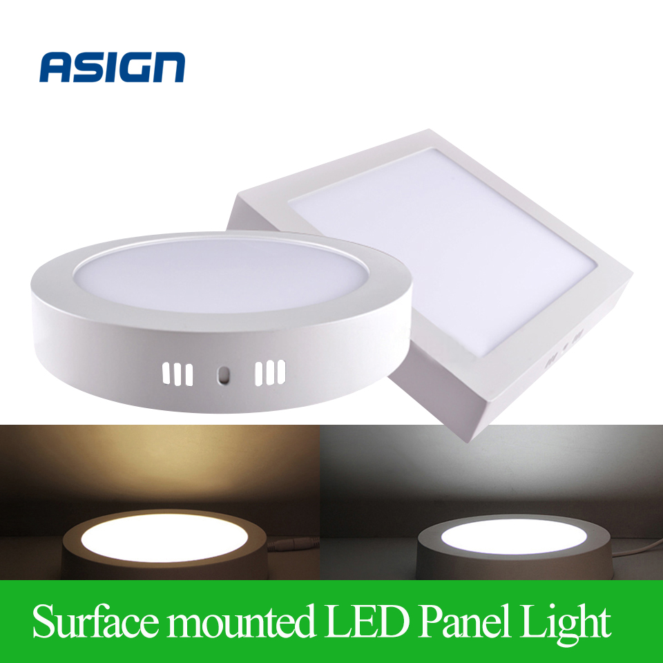 High quality with cheap price led panel light 36w 600x600 ac85 265v - Surface Mounted Led Panel Light 6w 12w 18w Round Square Led Ceiling Lights Led Downlight