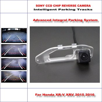 Dynamic Guidance Rear Camera For Honda XR-V XRV 2015 2016 / 580 TV Lines HD 860 * 576 Pixels Parking Intelligentized