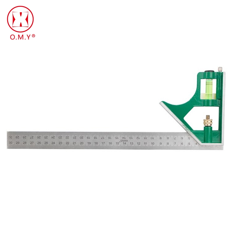 цена на 300MM professional carpenter tools Combination Square Angle Ruler Stainless Steel protractor Multi-function Measuring Tool