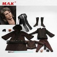 Costume1/6 компл. модель халат комплект Анакин Скайуокер маска на всю голову с сапоги и ботинки для девочек свет лезвие игрушка Fit 12 Мужской рису