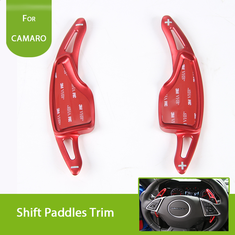 Car Styling Accessories Steering Wheel Shift Paddle Extension Shifters Paddles Sticker For Chevrolet Camaro 2017 + auto chrome camaro letters for 1968 1969 camaro emblem badge sticker