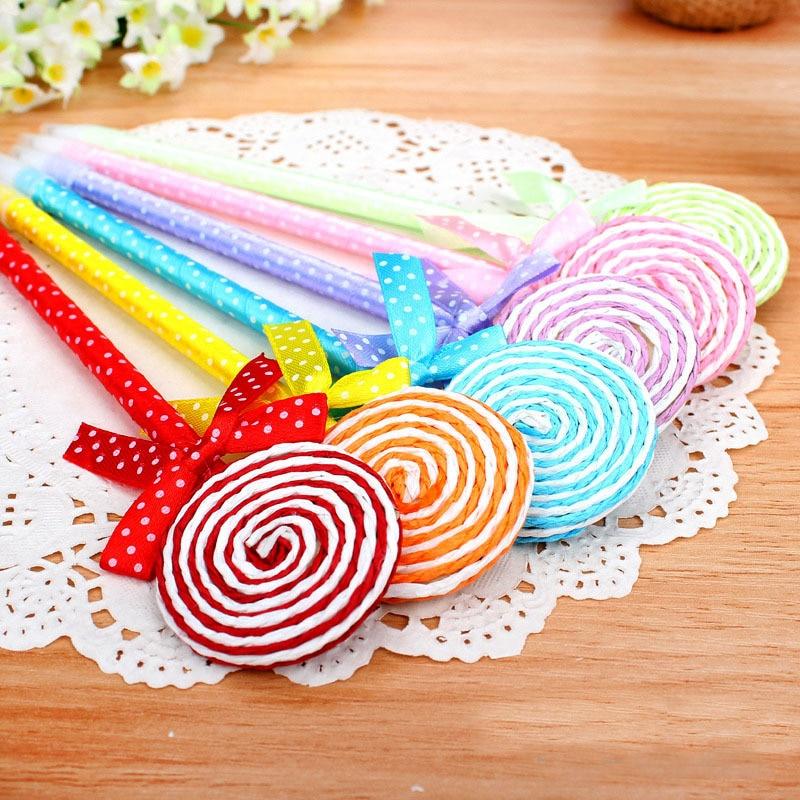 24 шт./лот Lollipop Шариковая ручка сувениры День рождения подарок душа ребенка с днем рождения украшения Дети