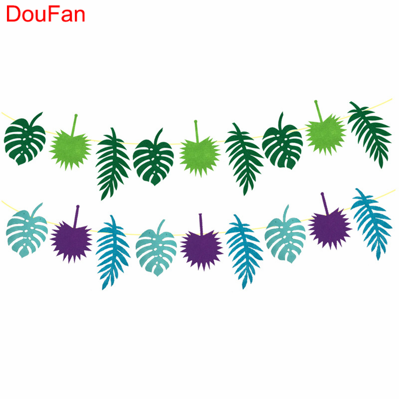 DouFan Kleurrijke Banners Hawaii Luau Feestartikelen Zomer Tropische - Feestversiering en feestartikelen