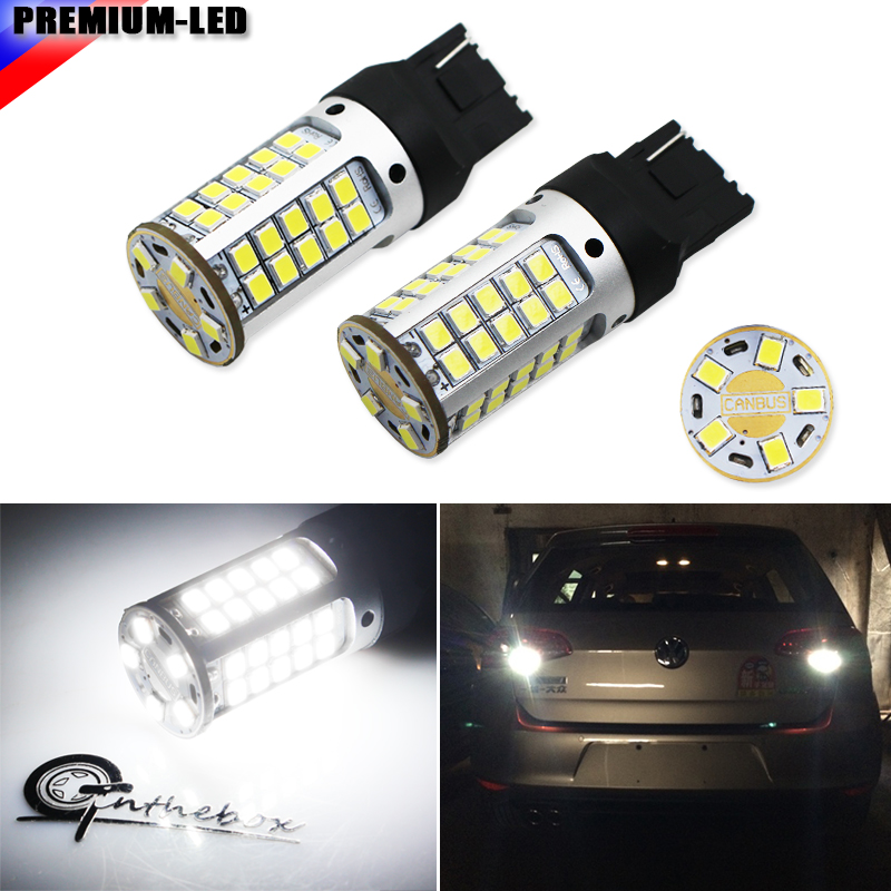2pcs Canbus Error Free 55-SMD-3030 7440 W21W LED Backup Reverse Light Bulbs For 2010-2014 Volkswagen MK6 Golf or GTi, 6000K whit 2 x error free super bright white led bulbs for backup reverse light 921 912 t15 w16w for peugeot 408