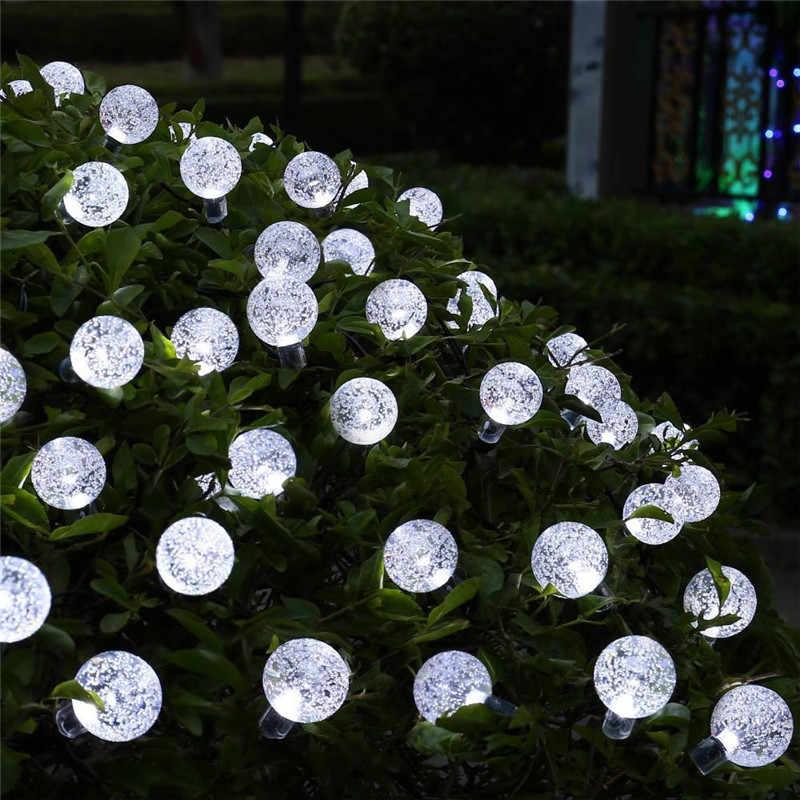 Luces solares para decoración de jardín bombilla impermeable 20LED 5M 2 modos luces de hadas solares luces de árbol de Navidad de fiesta de jardín
