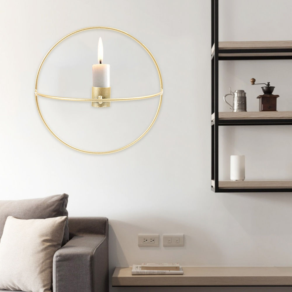 Nordic Candlestick Metal Wall Candle Holder Modern Sconce ... on Metal Candle Holders For Wall id=48407