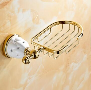 High Quality Soap Dishes Brass Soap Holder/Soap Case Bathroom Accessories Bathroom Shelf antique brass with ceramic soap holder bathroom shelf copper soap dishes soap basket bathroom accessories banheiro accessories