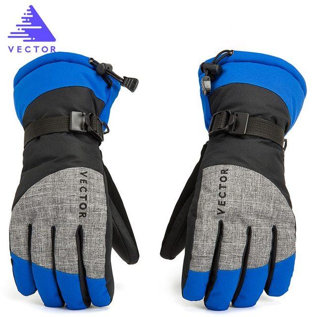 Women Men Ski Gloves Snowboard Gloves Snowmobile Motorcycle Riding Winter Gloves Windproof Waterproof Unisex Snow Gloves