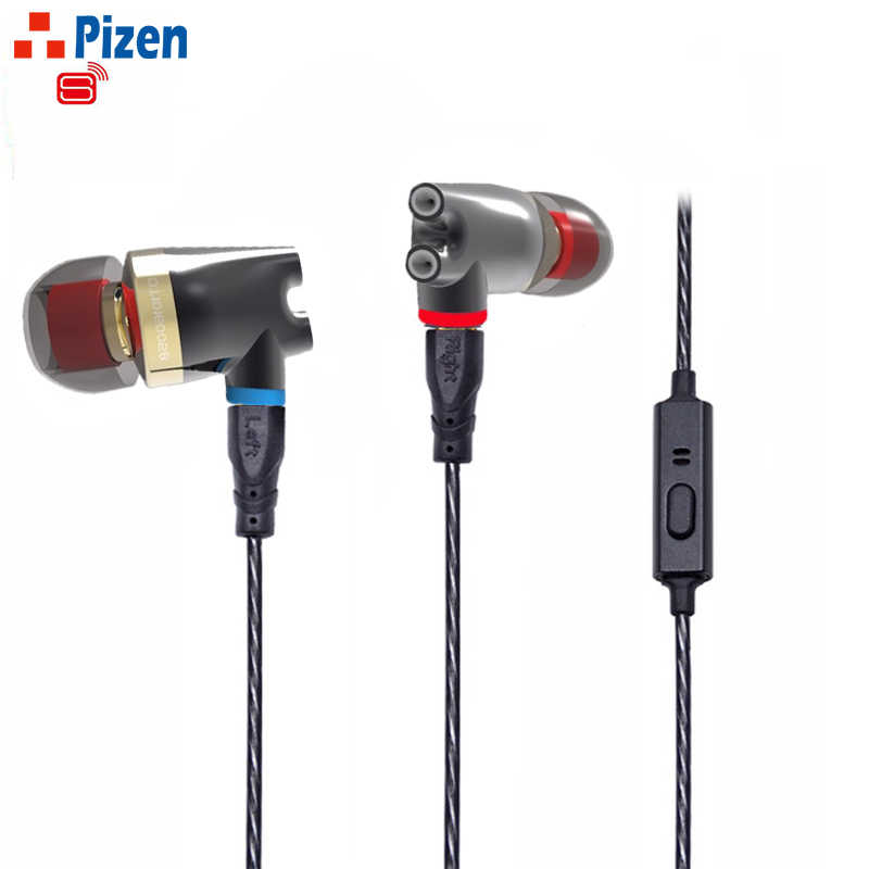 Pizen Senfer DT2 PLUS ie800 for phone Dynamic 2BA Hybrid Drive Ceramic HIFI  In Ear Earphone With MIC ie80 ie8 MMCX cable SE215