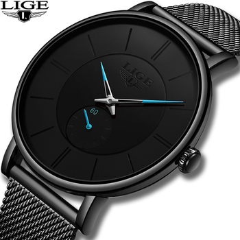 14cef0219b5b Nuevo en este momento 2019 reloj de hombre Casual Ultra-delgada muñeca reloj  de los