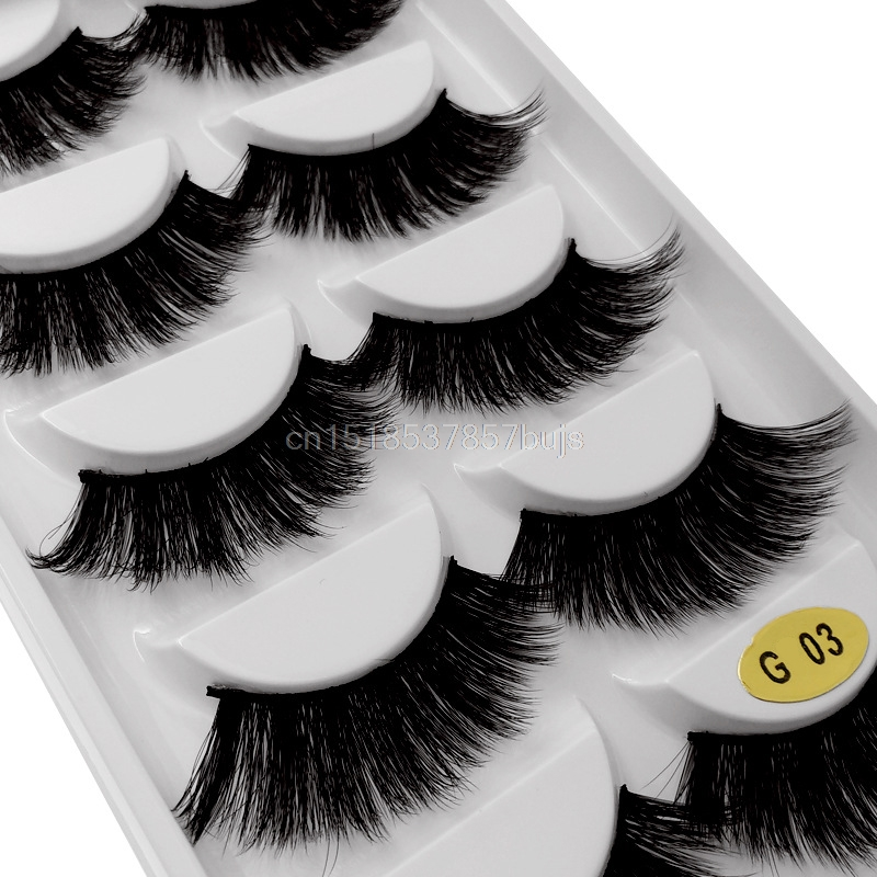 HTB1kIxLXOrxK1RkHFCcq6AQCVXaJ New 3D 5 Pairs Mink Eyelashes extension make up natural Long false eyelashes fake eye Lashes mink Makeup wholesale Lashes
