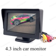 auto monitor 4.3 inch TFT Color resolution LCD vehicle digital Fold-able car monitor small display for reversing camera sale