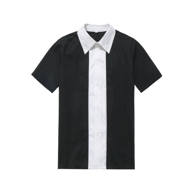6bfb3e129e6b Wholesale Clothing Rockabilly Men Clothing Black White Color Vintage Shirt  Man's Retro Inspired 60's Work Clothes