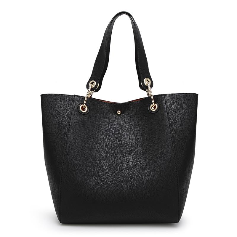 Women Messenger Bags Leather Luxury Handbags Women Bags Designer Vintage Big Tote Shoulder Bag High Quality Bolsos 2 pcs