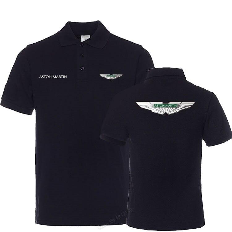 Рубашка-поло Aston Martin Мужская, брендовая тенниска с коротким рукавом, летняя майка