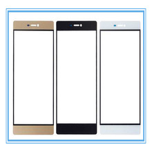 Wholesale 10pcs/lot Brand New A High Quality Front Screen Cover Plate / Outer Glass Lens for Huawei Honor 7 Black Gold White