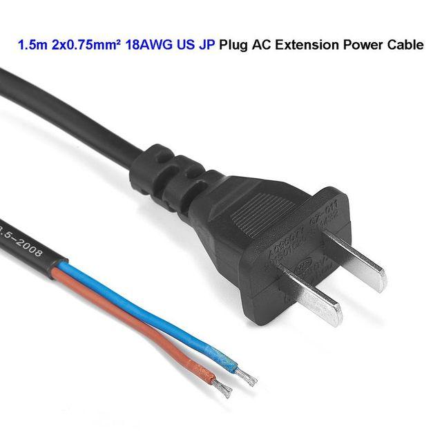 150pcs 2 Prong US Plug Extension Power Cable JP Japan Extend Power ...