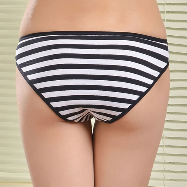 Cotton Stripe Bow 6color Sexy Lingerie