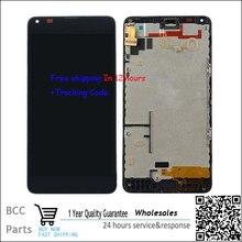 Лучшее качество Для Nokia Lumia 640 ЖК-дисплей + Сенсорный Экран digitizer с рамкой Для Nokia Lumia 640, BlackTest ок