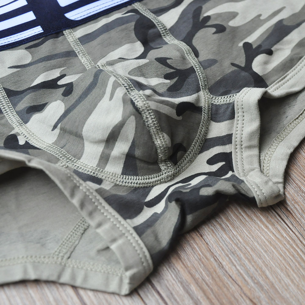 2017new Male Underwear Camouflage trunks Mens Shorts boxers Panties Cueca Masculina Underpants Mens fashion Cotton Calzoncillo