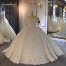 אמנדה Novias כדור שמלת חתונת שמלה חדשה עזיבות