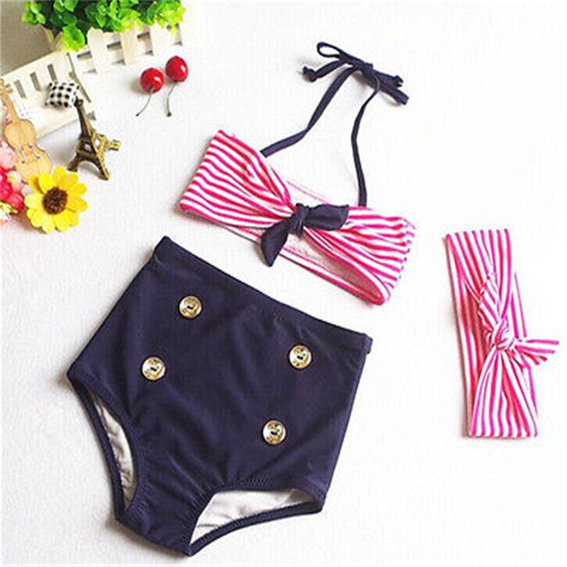 2017 Детский костюм бикини для маленьких девочек, морской купальный костюм, одежда для купания, купальный костюм, летняя пляжная одежда для де... 23