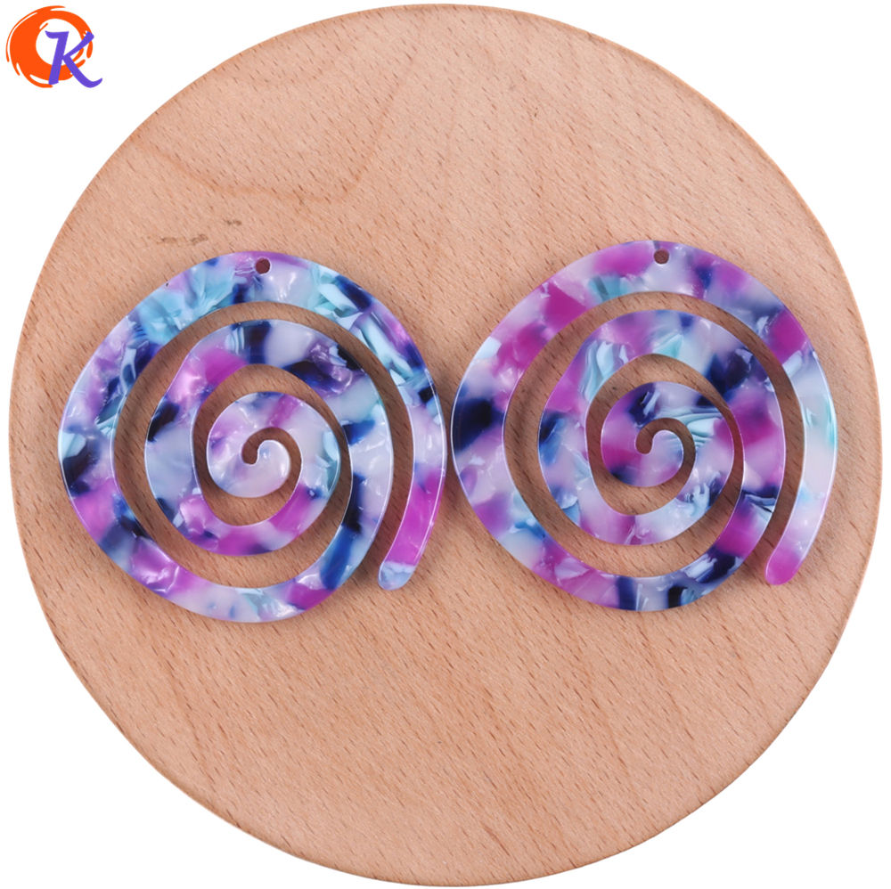 Image 4 - Cordial Design 30Pcs 41*43MM Jewelry Accessories/Acetic Acid Beads/DIY/Spiral Shape/Earring Making/Hand Made/Earring Findings-in Beads from Jewelry & Accessories
