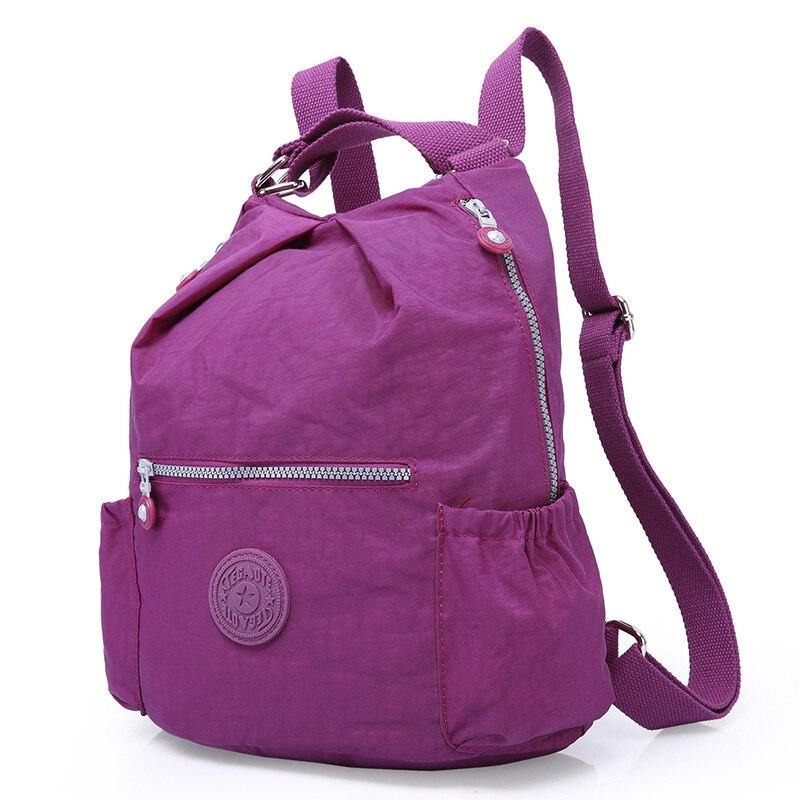 M096 Multifunction Backpacks Women School Backpack Teenage Girls Mochila Feminina Escolar Nylon Shopping Laptop Bagpack Female women backpack solid schoolbags backpacks for teenage girls hot lona escolar mochila feminina backpack women mochilas mujer 2017