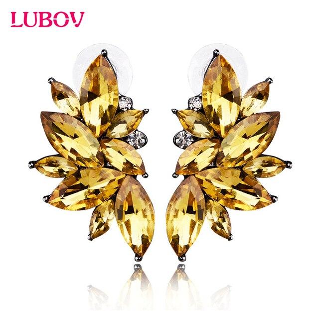 Серьги-гвоздики с опалом и камнем для рождественской вечеринки 2018 абсолютно новые элегантные серьги с кристаллами для женщин модные золотые женские серьги