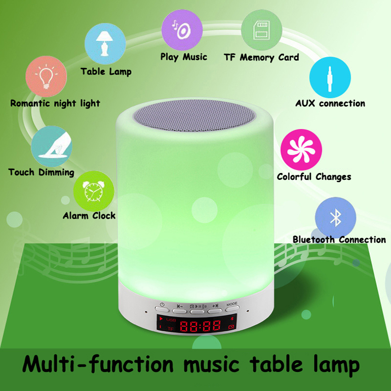 ФОТО Modern LED Table Lamp Creative Fashion Charging Music Small Desk Light Bluetooth Audio Speakers Touch Touch Sensitive Table Lamp