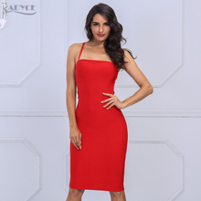 Autumn Backless Bandage Evening Party Dress