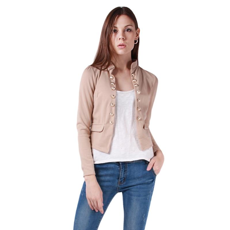 Fall Ladies Long Sleeve Slim Short Jacket Outerwear Casual Women ...