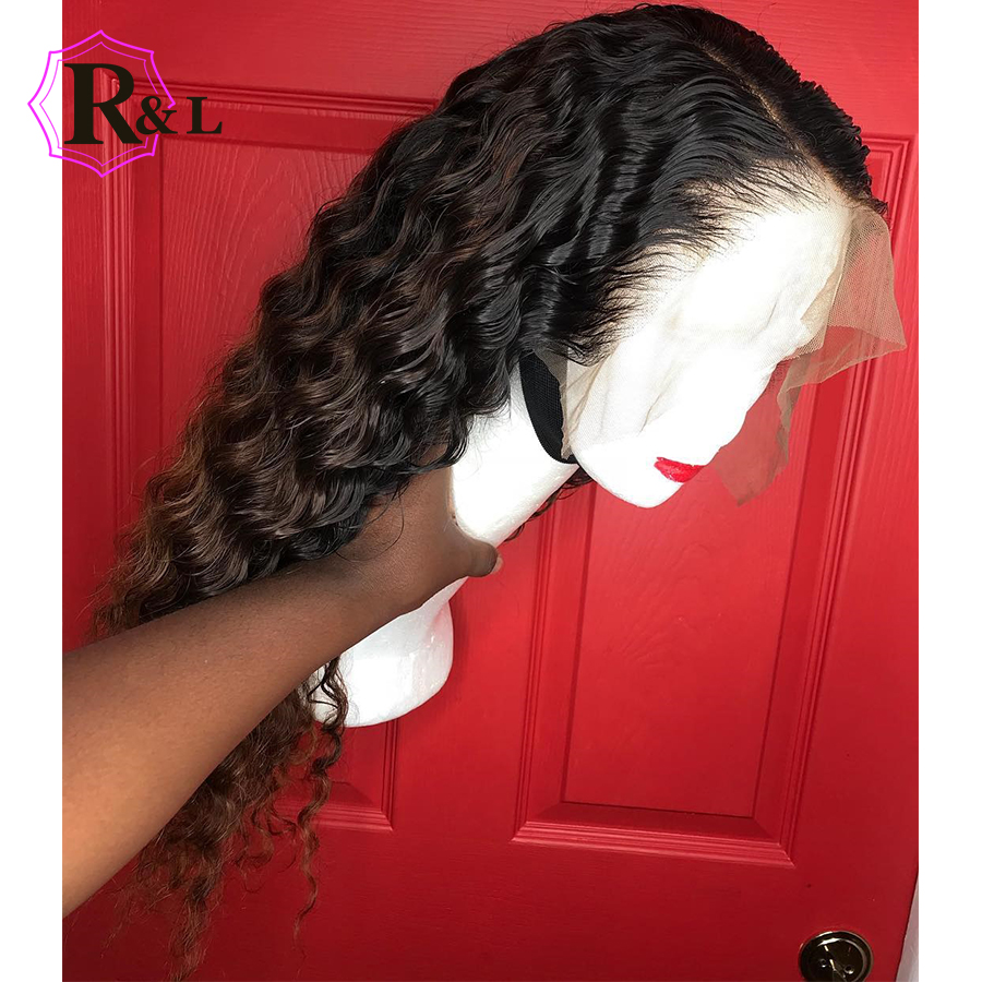 RULINDA Curly 13*6 Brazilian Lace Front Human Hair Wigs With Baby Hair Lace Front Wig Remy Hair Wig Pre Plucked Bleached Knots(China)