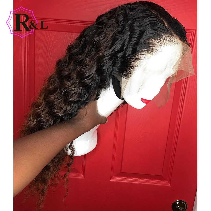 RULINDA кудрявые 13*6 бразильские парики из натуральных волос на кружеве с детскими волосами парик из натуральных волос предварительно сорванные отбеленные узлы