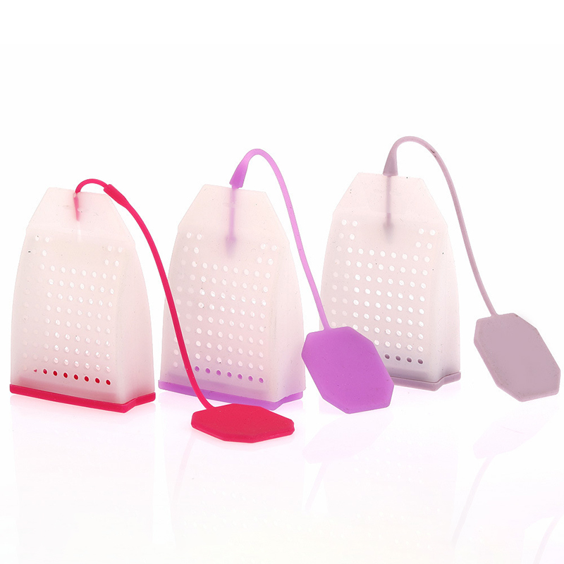 Tea Infuser Silicone Tea Bags Tea Strainer Herbal Spice Infuser Filter Diffuser Kitchen Coffee Tea Tools