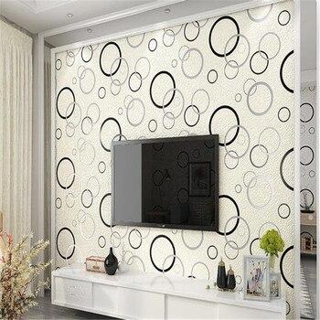 beibehang Modern minimalist deerskin cashmere wallpaper fashion thicker embossed circle bedroom living room TV papel de parede