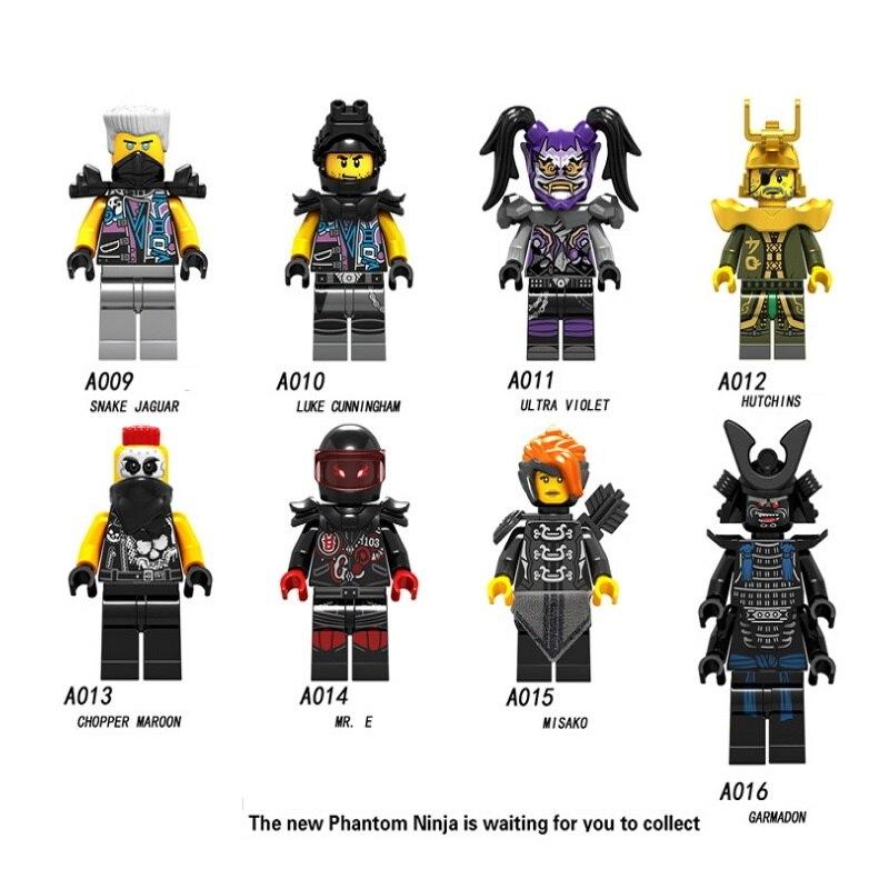 Single Sale Building Blocks Legoings Ninjagoes Luke Cunningham Ultra Violet Hutchins Zane Kai Cole Harumi Samurai X Bricks Toys