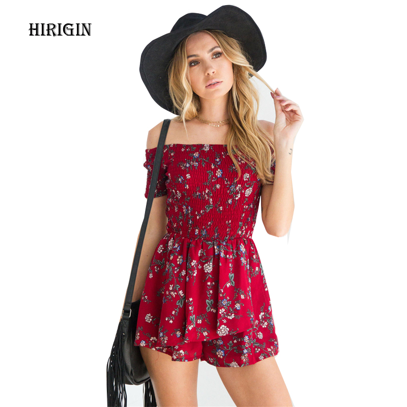 New Women Print V Neck Playsuit Bodycon Party  Romper Trousers Clubwear