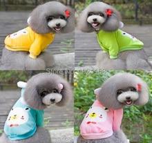 2016 Cute pet Dog Clothes Pets Coats Soft Cotton Fleece Puppy Dog Clothes Dog Sweater Costumes 4 colors #H013