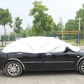 Universal Car Halfs Cover Sunsade Aluminum Silver Car Top Cover Waterproof Dustproof Sun Heat Protection Snow Ice Car Covers