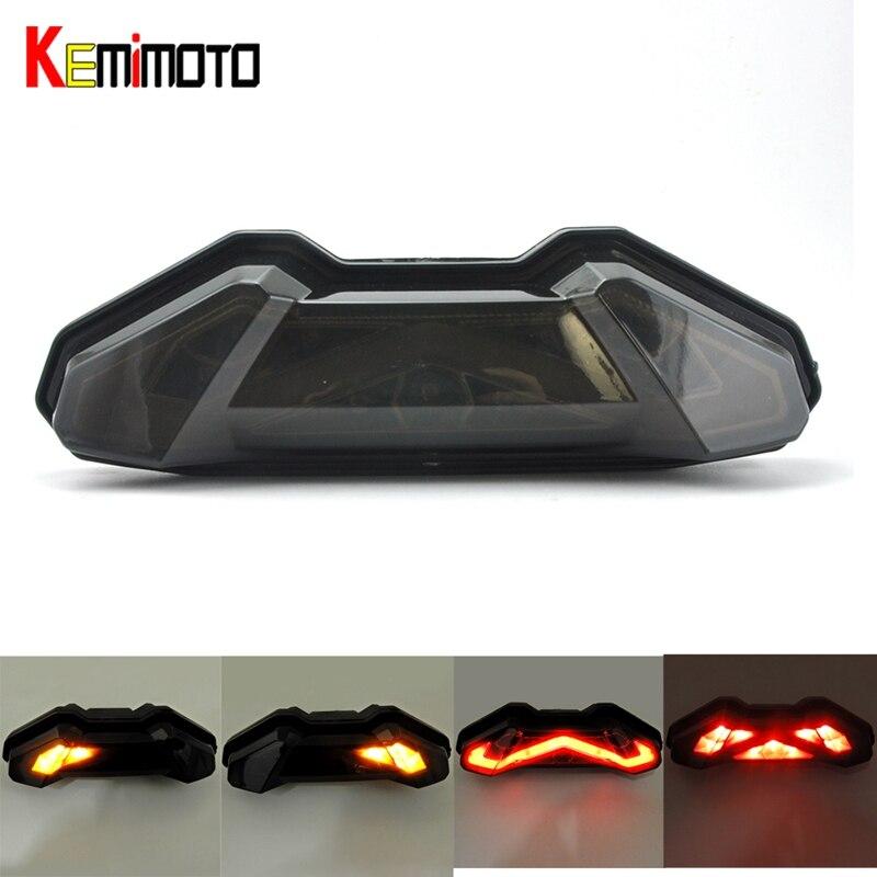 KEMiMOTO Pour YAMAHA MT09 LED Queue feu stop Clignotant Intégré LED FZ-09 2013-2017 MT 09 MT09 2017 accessoires Moto