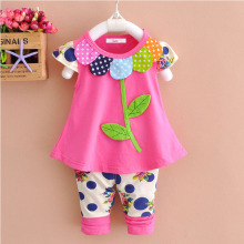 LZH Newborns Clothes 2018 Summer Baby Girls Clothes Set Petals T-shirt+Pants Outfits Baby Girls Suit Infant Clothing Baby Sets – Black