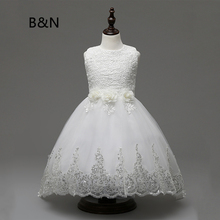 B&N Elegant Princess Dress Sequins Girl Dresses For Party And Wedding Flower Toddler Girl Dress Summer Girls Clothing