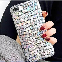 2019 New Laser Crocodile Pattern For Iphone 6 6S 7 8plus X Xs Xr Xsmax Illusion Silver Skin Phone Case