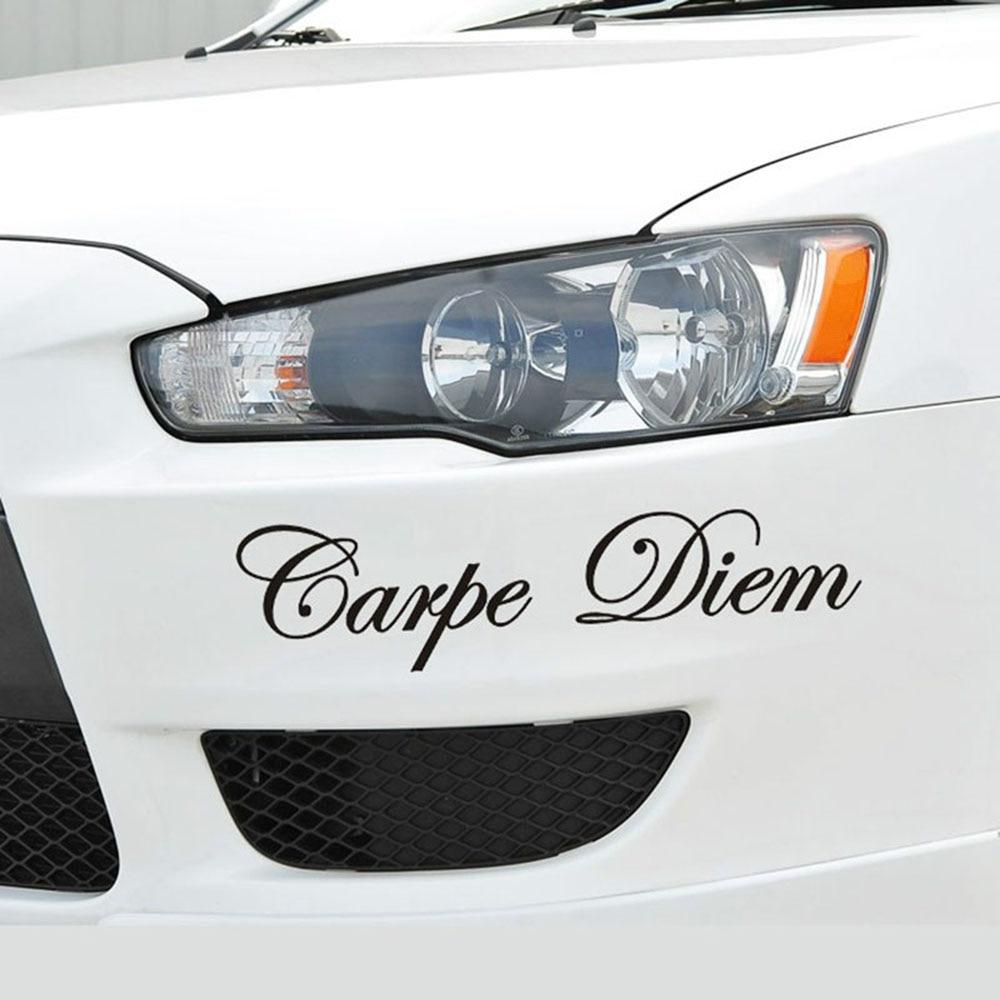 1Pcs Carpe Diem Reflective Car Stickers Vinyl Styling Art Creative Window Body Lettering Decal Auto Decor DIY Accessories New