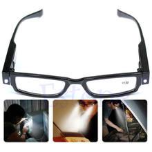 Óculos de leitura sem frete, multi resistência, led, óculos de leitura, dioptria, lupa
