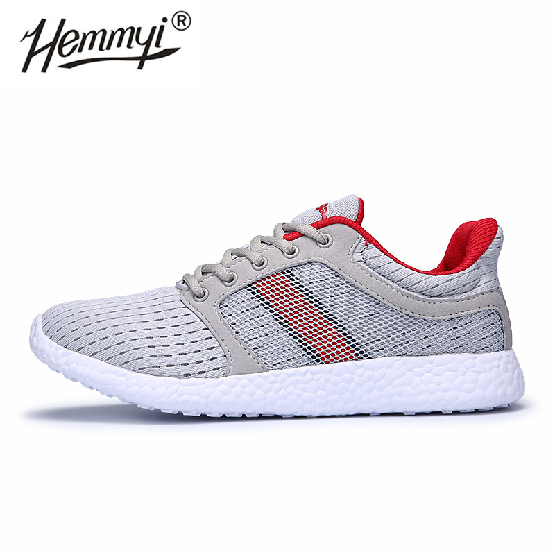 Hemmyi 2019 Trending Mesh Men Shoes Lace Up Soft Breathable Sneakers Light Sport Running Shoes for Man Chaussure Homme(China)