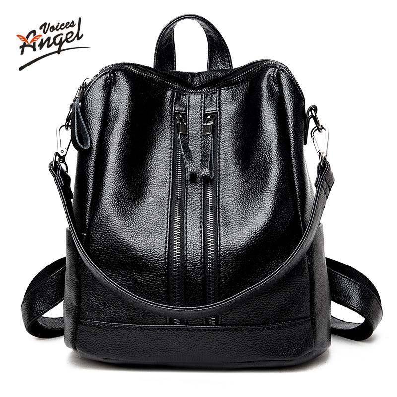 Designe Women's Backpacks Genuine Leather Female Backpack Women Schoolbag For Girls Large Capacity Shoulder Travel Mochila Bolsa kundui fashion designe women backpack genuine leather female backpacks schoolbag girls large capacity shoulder travel book bag