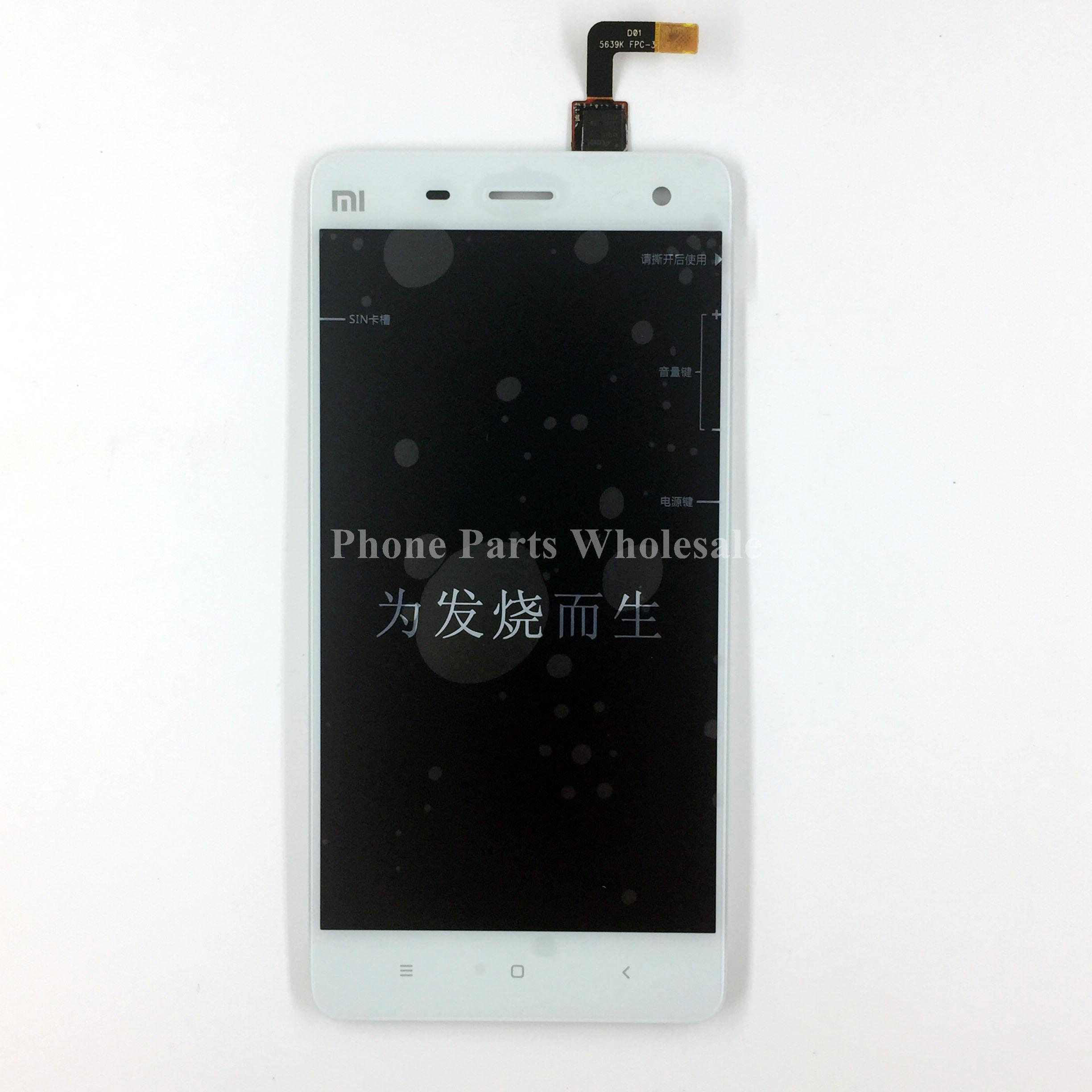 For Xiaomi 4 MI4 White Or Black High Quality LCD Display Touch Screen Digitizer Touch Panel Assembly Repair Parts